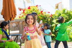girl playing Birthday Party Shoot Yash Doshi Photography