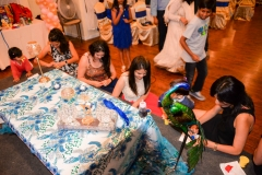 Abhijeet Komal Baby shower Bay area Yash Doshi Photography clay making baby shower game