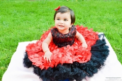 baby red dress photography props